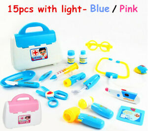 Pretend Kids Doctor Nurse Medical Case Role Play Set Gift Toy Educational Kit AU