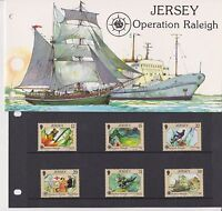 JERSEY PRESENTATION PACK 1988 OPERATION RALEIGH STAMP SET 10% OFF 5+