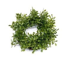 Flores secas y artificiales decorativas coronáis verdes para el hogar