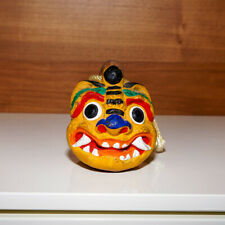 """New listing 3"""" tall Hand-painted Clay Bell Dorei Japanese Tiger"""