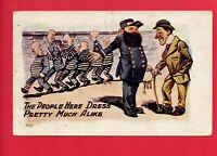 JAIL PRISON GUARD POLICE KEYS PRISONERS  PRINDLE NORTH EAST PA 1909  POSTCARD