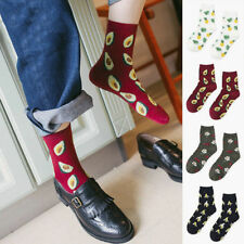 Novelty Women Cotton Socks Sports Friut Avocado Pineapple Cherry Funny Printed