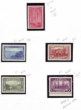 Canada 1938 Pictorial issue #241a-245i VF MNH/LH CV $358