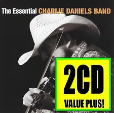 CHARLIE DANIELS BAND (2 CD) THE ESSENTIAL ~ DEVIL WENT DOWN TO GEORGIA *NEW*