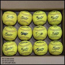 "12 Trump Dudley Thunder Heat 12"" Asa or Nsa Slowpitch Softballs – Used"