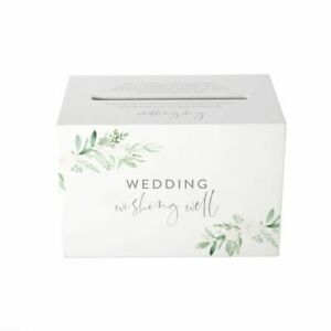Wedding Wishing Well Card Box For Money Gift Holder