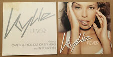 Kylie Minogue Rare 2002 Set of 2 Double Sided Promo Poster Flat for Fever Cd Usa