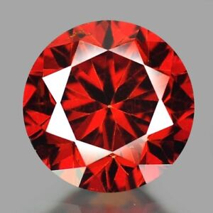 8314 IF - Diamant/Brillant/Synthese  1,50 ct. Dark/Red  6,00 mm  AAA+ Top !