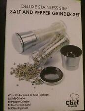 Salt & Pepper Grinder Set NEW Stainless Steel. Never opened!
