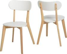 2x Seconique Wooden Julian Stacking Dining Chairs - White