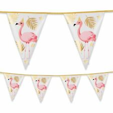 4m Foil Flamingo Bunting Banner Garland Summer Party Decoration