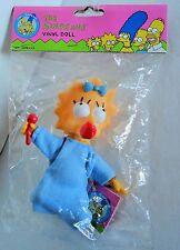 Simpsons MAGGIE Doll ~ Vinyl ~ 1990 Hamilton Gifts Matt Groeing ~ Cartoon ~ NIP
