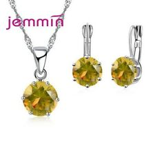 Cute Candy Color AAA Grade CZ Crystal Jewelry Sets For Women Girl Factory Sell