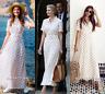 ZARA NEW LONG POLKA DOT DRESS SHIRT-STYLE BELT A-LINE VANILA 4886/049_Size XS-L