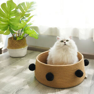 Pet Supplies Breathable Woven Cat Nest Small Dog Nest Pet Basket Bed All Seasons