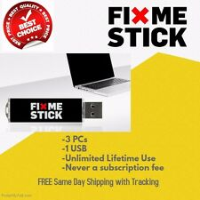 FIXMESTICK FIX ME STICK Virus Removal for 3 PCs Unlimited Use LIFETIME!