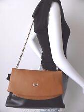 CHANCEBANDA  Black And Tan Large Leather Shoulder Bag Purse rrp $390.00