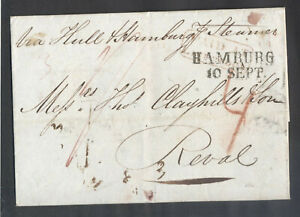 11625 Great Britain(Russia),1838,Cover via Hull-Hamburg line steamer from Englan