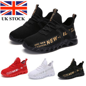 Kids Trainers Sports Shoes Lightweight Non-slip Boys Girls Gym Sneakers Shoes UK