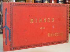 1900 MINNEN FRAN ENKOPING Sweden Swedish Photo Souvenir Book