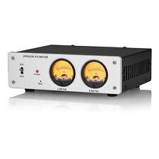 Aluminum Alloy Analog Micline Dual Vu Meter Amp Db Panel Sound Level Indicator