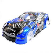 L690 1/10 Escala Drift Touring Car Body Cubierta Armazón RC Azul Sin Cortar V2