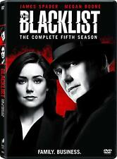 The Blacklist: Season 5 Fifth (Dvd, 2018, 5-Disc Set), New, 1st Class Shipping!