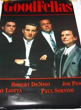 GOODFELLAS Movie POSTER 1990! Extremely Rare! Early Poster Design!