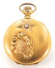 * STUNNING DIAMOND SET CASE / 1903 WALTHAM 0S 7J POCKET WATCH. A FIXER