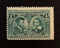 Canadian Stamp, Scott #97 1c 1908 Quebec Tercentenary Issue F/VF M/NH