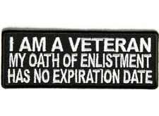 I Am A Veteran My Oath Embroidered Jacket Vest Patch Funny Saying Biker Emblem