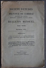 SOCIETE D'ETUDES DE LA PROVINCE DE CAMBRAI - TOME XXXI