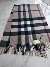Extra Large Thick  Burberry Scarf 100% Cashmere