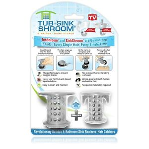 TubShroom & SinkShroom Gray Combo Pack Hair Catchers Strainers Drain Protectors