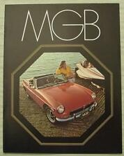 MG MGB SPORTS CAR USA BROCHURE DI VENDITA 1972-73 #AMGB 600M 10/72