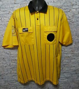 United States Soccer Federation Official Sport Yellow Referee Shirt Jersey Large