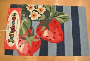 """JellyBean Area Rug """"Blossoming Strawberries"""""""