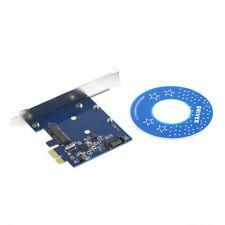 PCI-E PCIe to mSATA SSD+SATA3.0 Combo Extender Adapter PCI-E toSATAIII Card RT00