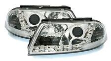 2 PHARES DEVIL EYES VW PASSAT 3BG 2000-2005 BUSINESS LINE CHROME LED FEUX AVANT