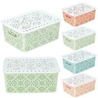 Plastic Storage Basket Box Bin Container Organizer Home-Hol Laundry Clothes C3P0