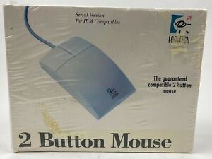 Vintage Logitech Two Button Mouse Model 0253 NEW