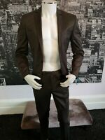 """New 2 Piece Suit Bronze Malcon Chest 36"""" Small Work Funeral Wedding Prom Party"""