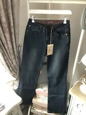 Joe Browns Denim Dark Wash Faded Jeans Size 10 Regular