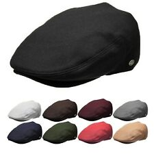 Classic Plain Men's Wool Flat Cap Newsboy Gatsby Ivy Driving Cap