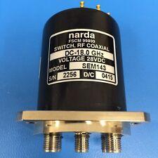 Narda SEM143 RF Coaxial Switch, DC-18 GHz