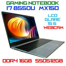 "Notebook 15.6"" Intel i7-8550u 16GB SSD512GB Webcam Sk Video MX150 Fortnite Fifa"