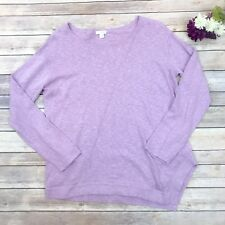 J. Jill XS Pure Jill Light Purple Sweater Cotton Linen Tunic Top