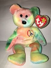 Rare Ty Beanie Baby Peace Bear Original Collectible 1996 NEW Old Stock