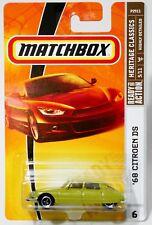'68 CITROEN DS * 2009 MATCHBOX * LIME GREEN 1968 CITROEN LICENSE PLATE VARIATION