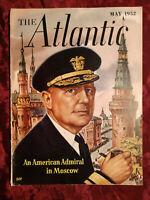 ATLANTIC May 1952 Leslie C Stevens George Santayana Crary Moore Marc Brandel